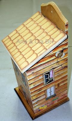 artesanato decoupage puxa saco madeira mdf