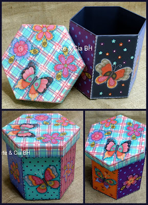 artesanato pintura country decoupage caixa mdf madeira