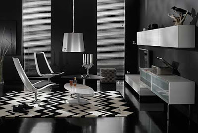 Black and White Modern Room Design