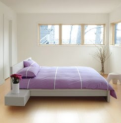 Minimalist bedroom Bedroom for blended wall color, purple bedroom