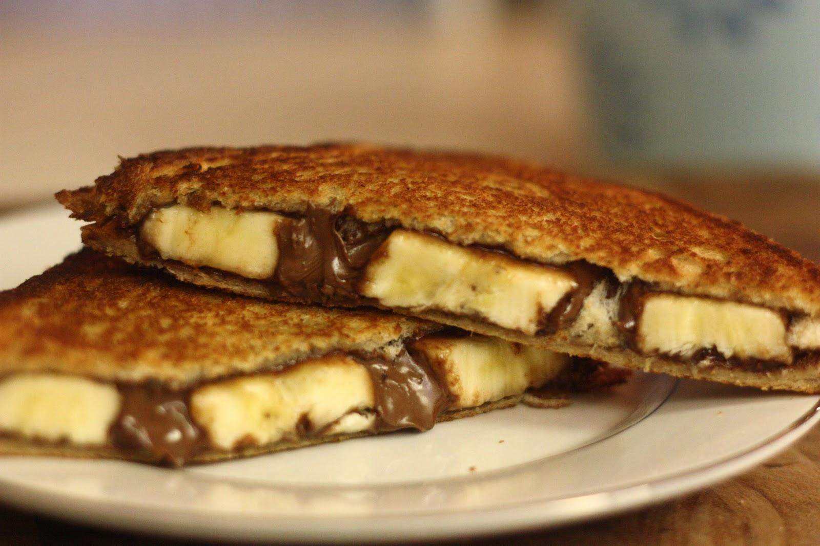 pudding nutella banana marshmallow creme panino roasted banana nutella ...