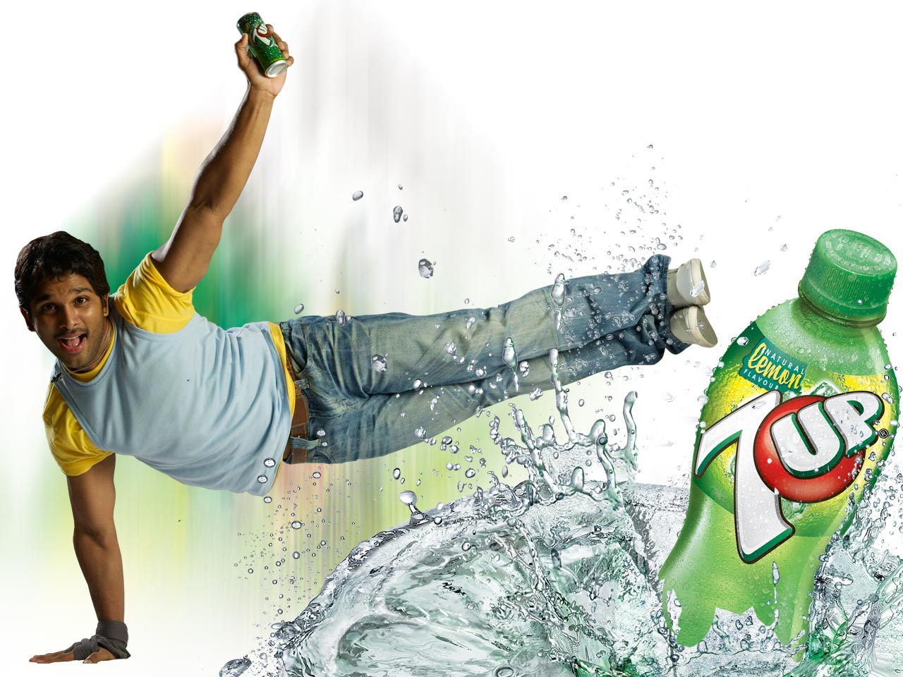 Allu Arjun New 7up Ad Wallpapers 1