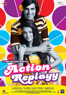 Action Replayy DVD Poster Screenshots Hindi movie wallpapers photos CD covers review stills Akshay Kumar,Aishwarya Rai,Neha Dhupia,Aditya Roy Kapoor
