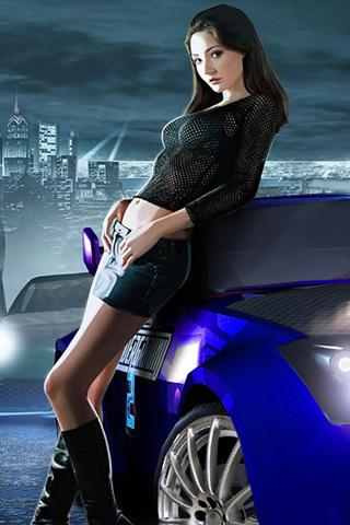 NFS Underground Game Model Girl Mobile Wallpaper