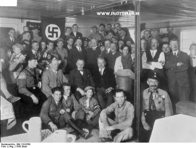 An NSDAP meeting in December 1930, with Hitler in the centre