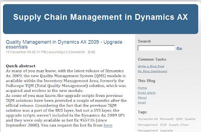 http://blogs.msdn.com/DynamicsAxSCM