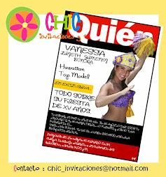 Invitación tipo Revista XV años