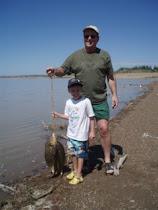 Isaac & G'pa Fishing