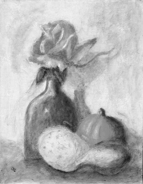 Gourds And Pumpkins. Vase, Gourds and Pumpkin,