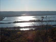 View of Mississippi River near Fountain City,WI