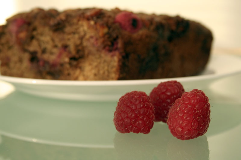 :: steph chows ::: Raspberry Almond Quick Bread