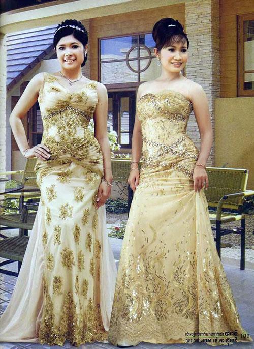 Sabbay sabbay cambodia khmer traditoinal wedding dress for Khmer dress for wedding party