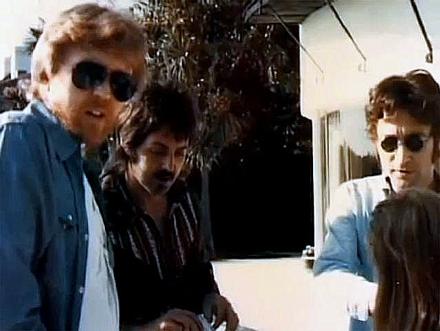 A New Photo Of Lennon And McCartney In 1974 Emerged On The Excellent Beatles Blog Today Also This Is Harry Nilsson Probably Linda