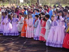 Alunos da Escola participantes do Helenco do CTN