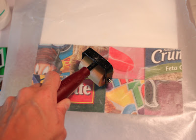 Flatten with brayer via lilblueboo.com