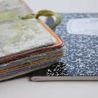 Top tutortials week -Composition Notebook Art Journal via lilblueboo.com