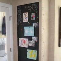 Top tutortials week - magnetic chalkboard and growth chart via lilblueboo.com
