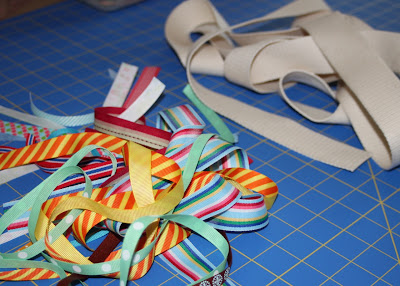 Scrap Ribbon Belt (A Tutorial) step 1 via lilblueboo.com