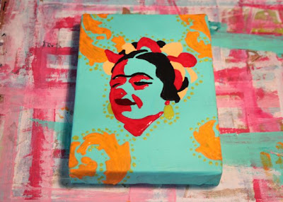 How to make a distressed folk art-style painting. DIY tutorial let dry via lilblueboo.com