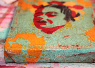 How to make a distressed folk art-style painting. DIY tutorial step 13 via lilblueboo.com