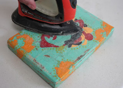 How to make a distressed folk art-style painting. DIY tutorial step 11 via lilblueboo.com