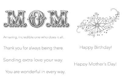 Messages for Mom Birthday Card | Stamping with Brenda