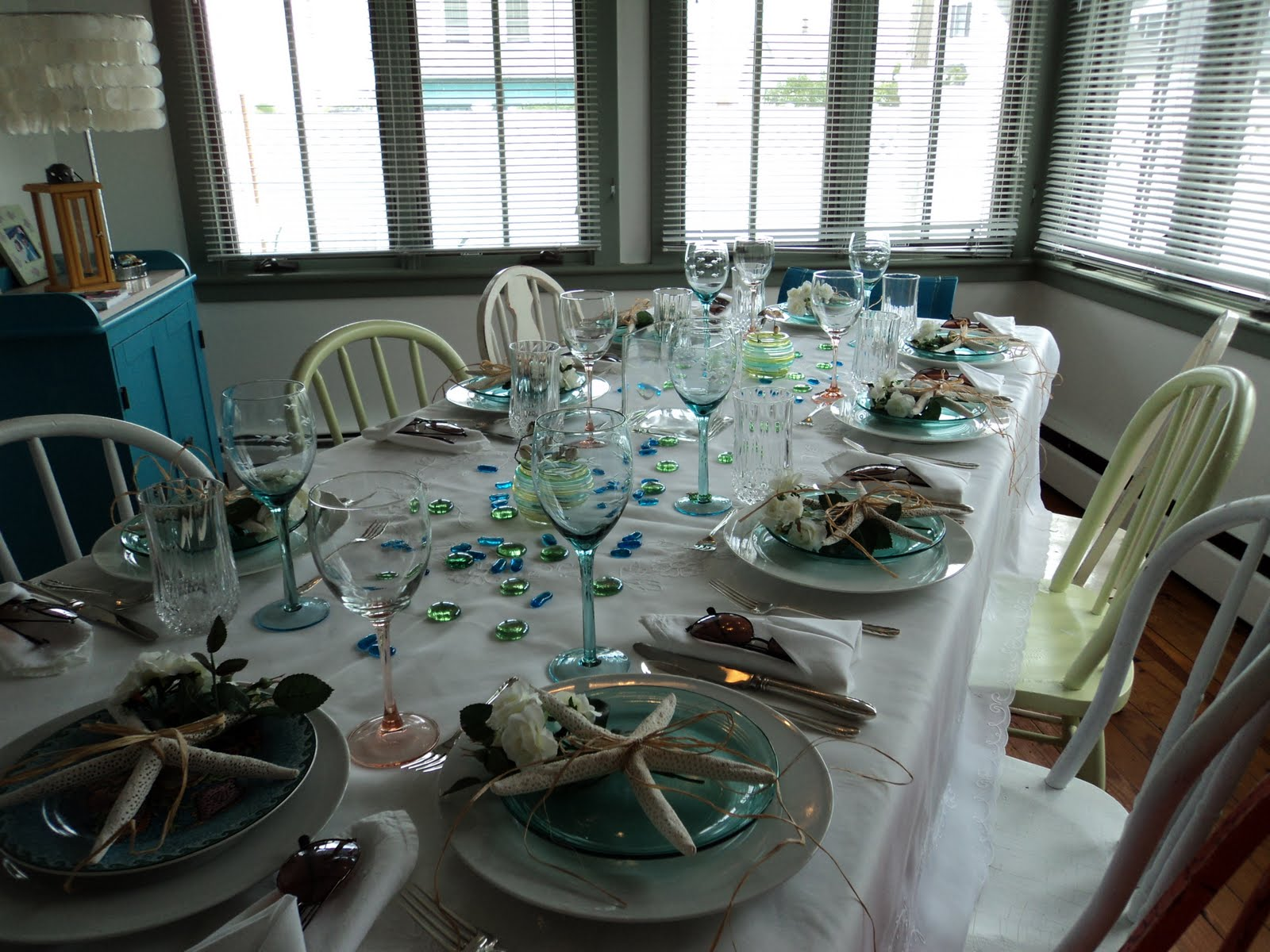Beach and garden themed party | New England Fine Living