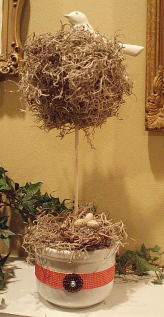 Bird Nest Topiaries   A How To