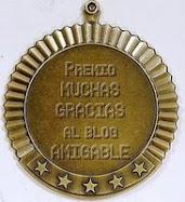 Este blog tiene el premio Al blog amigable.