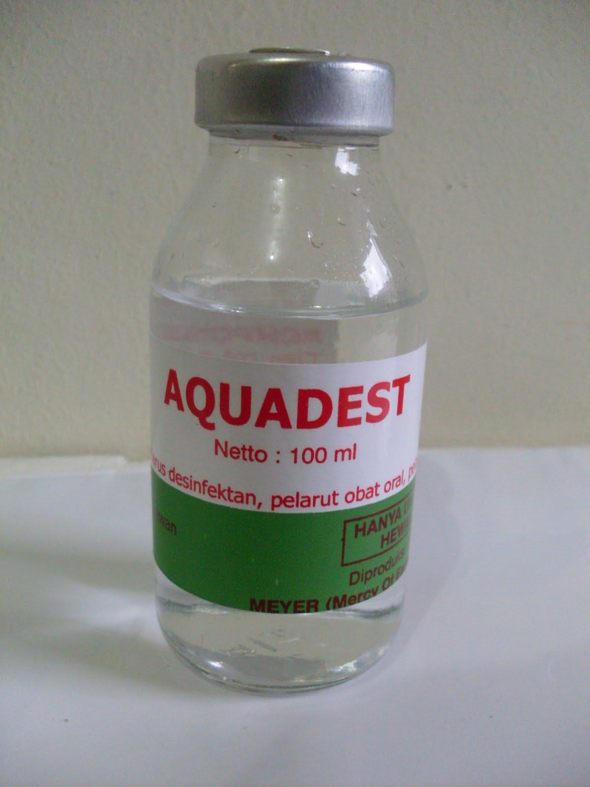 Aquadest Obat Ternak