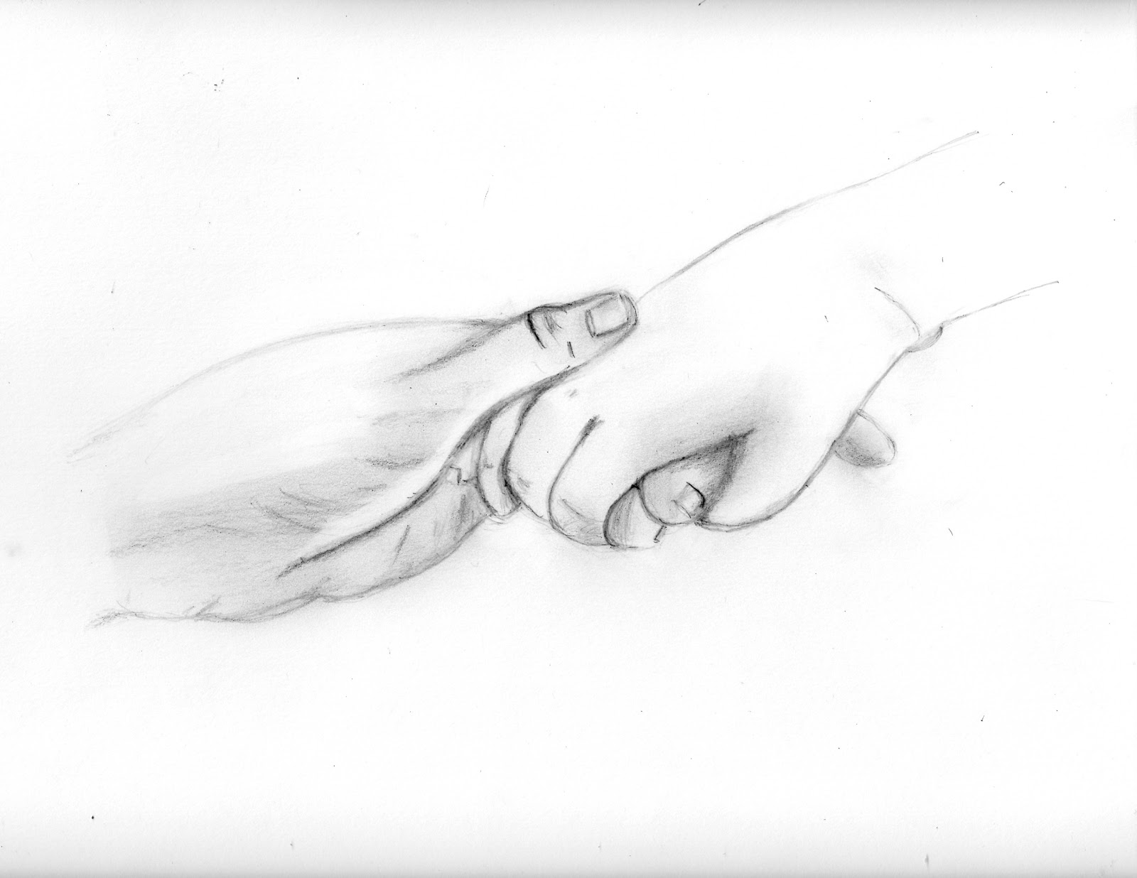 how to draw two hands holding