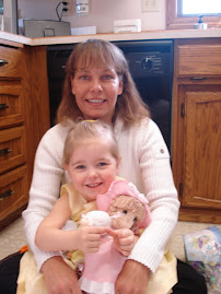Ellie and Grandma on Easter