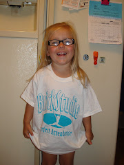 Ell got this tshirt because she had perfect attendance for dance class!