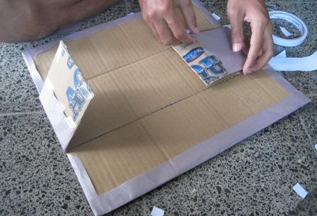 ... yg ekonomis, maka kami membuat box sendiri, dari kardus air mineral