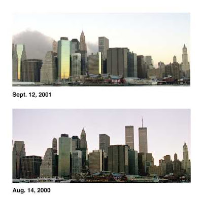 New York City Skyline, without the Twin Towers,