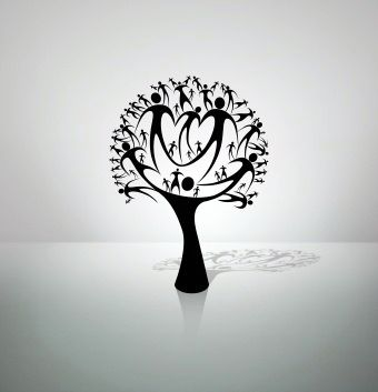 tattoo trees. family tree tattoo design