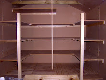 shelves in a shed