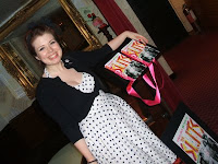 Typical Girls author Zoë Street Howe at book launch in London; photo by Val Phoenix