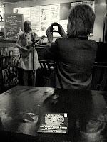 Jude Cowan at the 12-Bar Club; photo by Val Phoenix