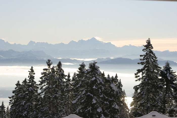 Beauté incandescente d'un jour de grand beau en montagne