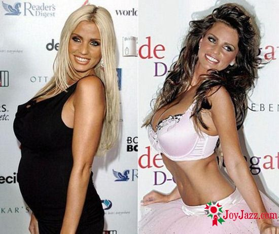 Hollywood celebrities before and after pregnancy