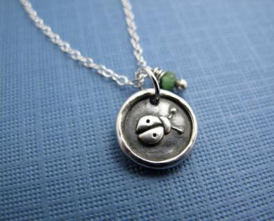 silver lucky ladybug charm necklace jewelry