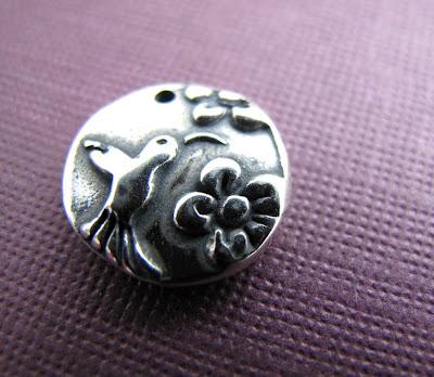 silver hummingbird charm jewelry bracelet