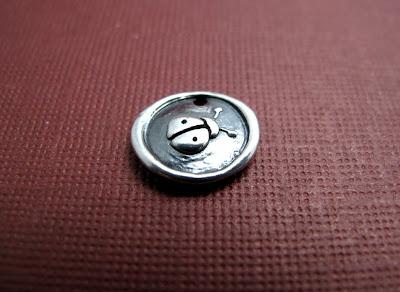 silver good luck ladybug charm jewelry bracelet