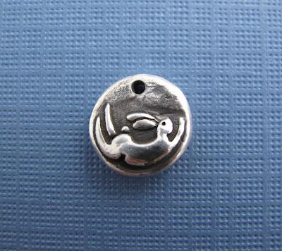 silver bunny rabbit charm jewelry bracelet