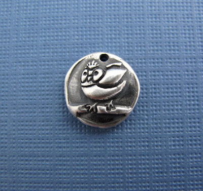 silver baby owl charm shower bracelet