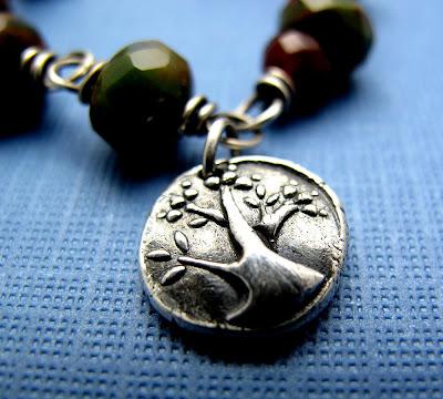 silver tree of life charm bracelet jewelry