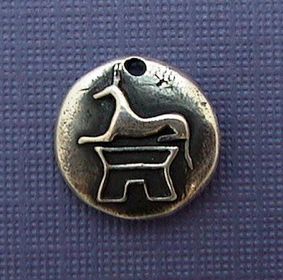 silver egyptian anubis dog jackal charm jewelry men