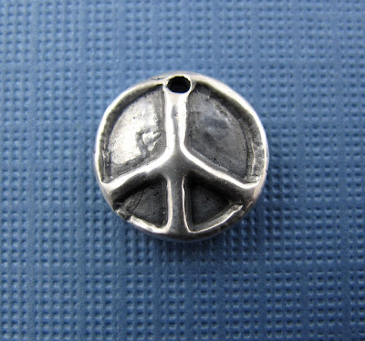 handcrafted silver peace sign charm yoga inspired jewelry