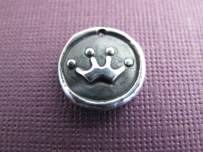 silver queen crown charm hint jewelry